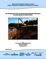 Best Management Practices for Climate Change Adaptation in Dykelands: Recommendations for Fundy ACAS sites