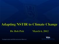 Adapting NSTIR to Climate Change