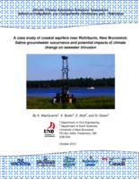 A case study of coastal aquifers near Richibucto, New Brunswick: Saline groundwater occurrence and potential impacts of climate change on seawater intrusion