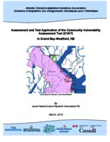 Assessment and Test Application of the Community Vulnerability Assessment Tool (CVAT) in Grand Bay-Westfield, NB