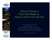 Climate Change in Flood Risk Mapping – Newfoundland and Labrador