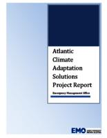 Atlantic Climate Adaptation Solutions Project Report: Emergency Management Office