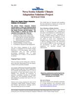 Nova Scotia Atlantic Climate Adaptation Solutions Project Newsletter - Volume 2