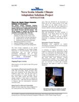 Nova Scotia Atlantic Climate Adaptation Solutions Project Newsletter- Volume 3