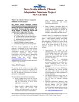 Nova Scotia Atlantic Climate Adaptation Solutions Project Newsletter - Volume 5
