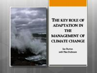 The key role of adaptation in the management of climate change