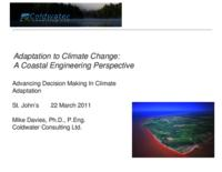 Adaptation to Climate Change: A Coastal Engineering Perspective