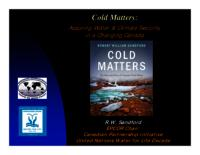 Cold Matters: Assuring Water and Climate Security in a Changing Canada