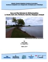 Sea-Level Rise Estimates for NB Municipalities: Le Goulet, Saint John, Richibucto, Sackville, Shippagan, Caraquet