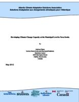 Developing Climate Change Capacity at the Municipal Level in Nova Scotia