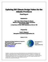 Updating IDF Climate Design Values for the Atlantic Provinces: Final Report