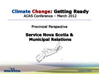 Provincial Perspective: Service Nova Scotia and Municipal Relations