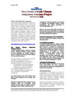 Nova Scotia Atlantic Climate Adaptation Solutions Project Newsletter - Volume 1