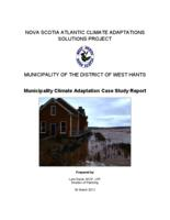 Municipality of the District Of West Hants: Municipality Climate Adaptation Case Study Report