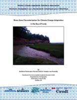 Shore Zone Characterization for Climate Change Adaptation in the Bay of Fundy