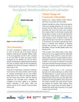 Adapting to Climate Change: Coastal Flooding Ferryland, Newfoundland and Labrador