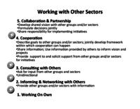 Working with other Sectors