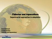 Fisheries and Aquaculture Departmental approaches to adaptation