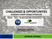 Challenges and Opportunities: Municipal Climate Change Action Plan