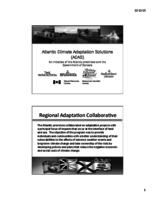 Atlantic Climate Adaptation Solutions (ACAS) An initiative of the Atlantic provinces and the Government of Canada
