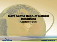 Nova Scotia Dept. of Natural Resources Coastal Program