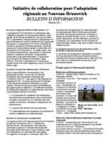 Initiative de collaboration pour l'adaptation régionale au Nouveau-Brunswick: bulletin d'information