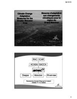 Climate Change Adaptation Measures for the Greater Moncton Area/ Mesures d'adaptation aux changements climatiques pour la région du Grand Moncton