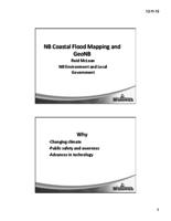 NB Coastal Flood Mapping and GeoNB