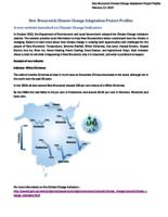 New Brunswick Climate Change Adaptation Project Profiles- February 2013
