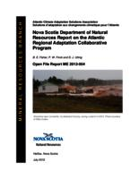 Nova Scotia Department of Natural Resources Report on the Atlantic Regional Adaptation Collaborative Program