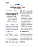 Nova Scotia Atlantic Climate Adaptation Solutions Project Newsletter - Volume 4