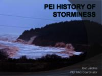 PEI History of Storminess