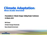 Climate adaptation: Nova Scotia Overview