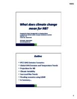 What does climate change mean for NB?