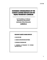 Economic Consequences of the Climate Change Impacts on the NB/NS Transport Corridor