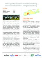 Municipality of the District of Lunenburg, Nova Scotia Climate Change Case Study