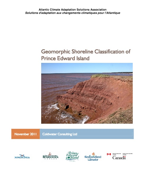 Geomorphic Shoreline Classification of Prince Edward Island