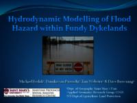 Hydrodynamic Modelling of Flood Hazard within Fundy Dykelands