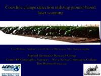 Coastline change detection utilizing ground based laser scanning