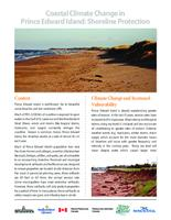 Coastal Climate Change in Prince Edward Island: Shoreline Protection