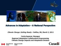 Advances in Adaptation- A National Perspective
