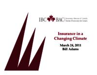 Insurance in a Changing Climate