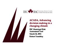 ACASA, Advancing decision making in a changing climate: IBC Municipal Risk Assessment Tool