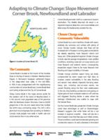 Adapting to Climate Change: Slope Movement: Corner Brook, Newfoundland and Labrador
