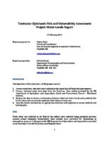 Tantramar Dykelands Risk and Vulnerability Assessment Water Levels Report