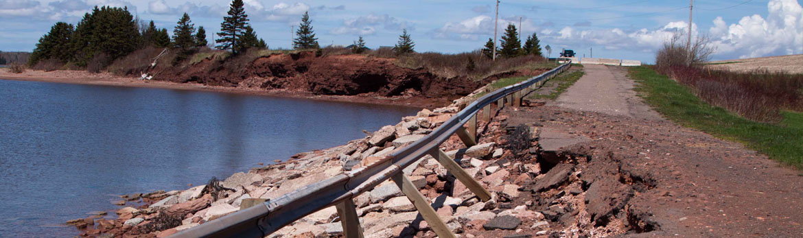 Damaged Guardrail on Brae Harbour Wharf Road