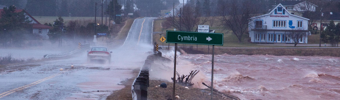 Storm surges at Cymbria, Prince Edward Island